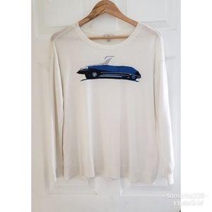 Joie Eloisa Sweater Intarsia White sz M